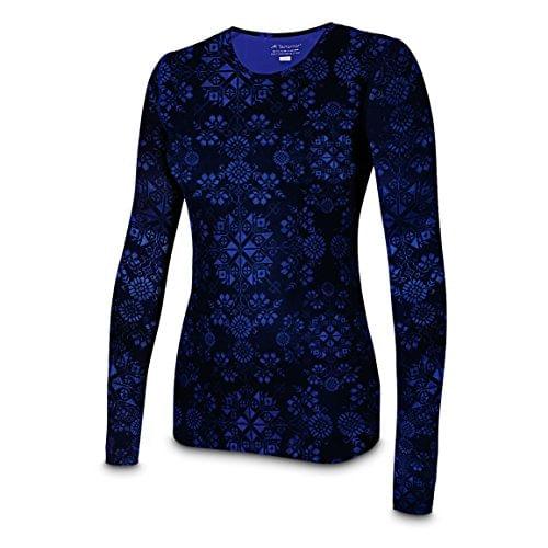 Terramar Cloud Nine 2.0 Long Sleeve Printed Scoopneck Shirt - Women's