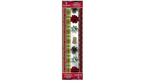 Browning Holiday Plaid Gift Wrap Kit