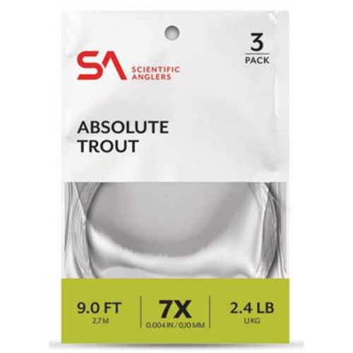 Scientific Anglers Absolute Trout Leader 3 Pack