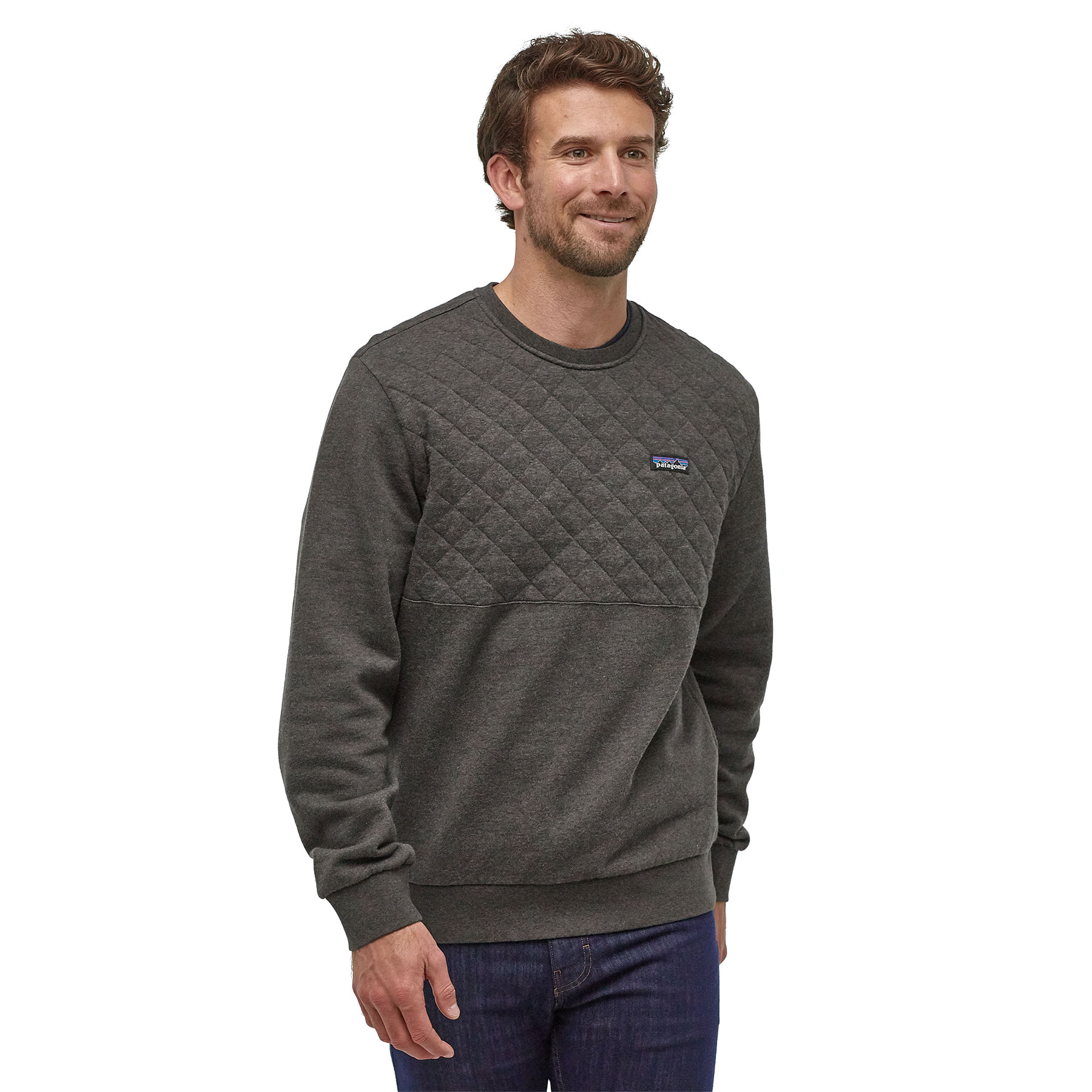 Patagonia Organic Cotton Quilt Crewneck Sweatshirt Men S