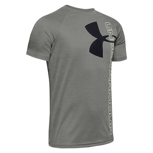 Under Armour Tech Split Logo Hybrid Short Sleeve Shirt - Boy's