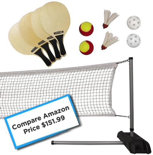 Lifetime Pickleball - Badminton - Tennis Net With Paddles