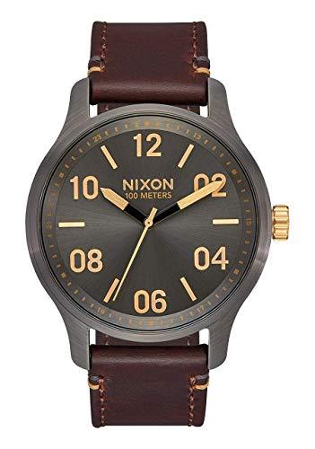 Nixon Patrol Leather Watch - Men's