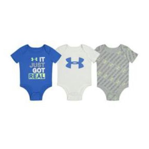 Under Armour It Just Got Real 3 Pack Bodysuits - Infant