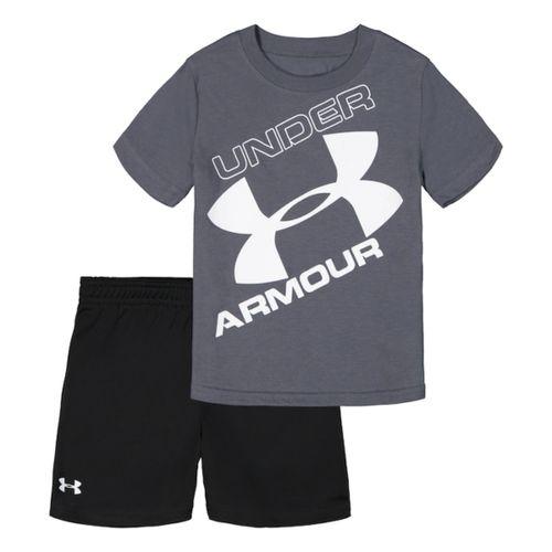Under Armour Tilted Big Logo Tee & Short Set - Toddler