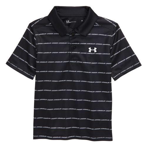 Under Armour Stripe Wordmark Performance Polo Shirt - Boys'