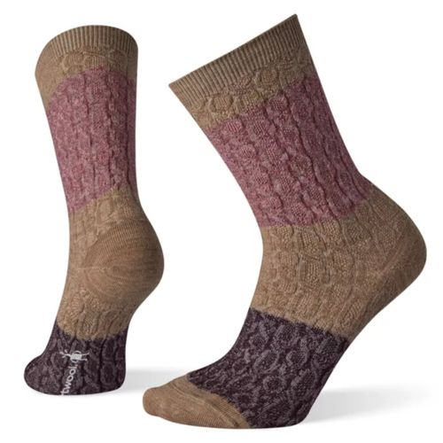 Smartwool Color Block Cable Crew Sock