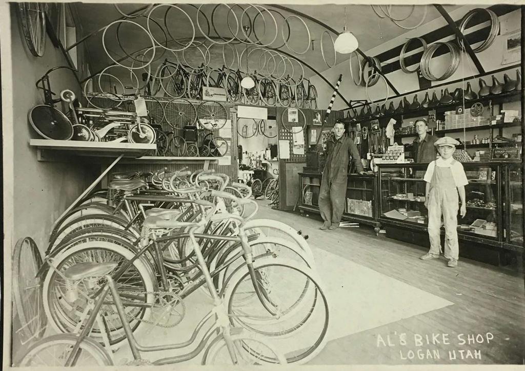 Old Photo of Al's Bike Shop